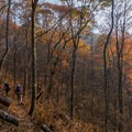 On the way to Winding Stair Gap.- Stunning Fall Adventures in the Central Appalachians