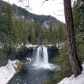 Koosah Falls viewpoint.- 26 Amazing Snowshoe-to-Waterfall Adventures