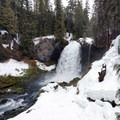 Sahalie Falls in its winter dress.- 5 Great Snowshoe Trails Near Salem, Oregon