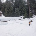 Exploring the snow and ice near Sahalie Falls.- 5 Great Snowshoe Trails Near Salem, Oregon