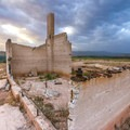 The remains of St. Thomas' Hanning Ice Cream Parlor offer some of the most dynamic building remains still standing in the townsite.- The Uninhabited West: Ghost Towns and Mines