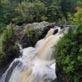 View of Gabbro Falls from the top.- Gabbro Falls