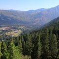 Views from the top of Icicle Ridge.- Oktoberfest in Leavenworth