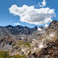 Beautiful view of Navajo Peak, Navajo Glacier, Shoshoni Peak, and the tundra above the tree line.- Epic Adventures in Colorado's Indian Peaks Wilderness