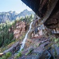 Aside from the waterfall itself, there is a lot of water in the surrounding mountain.- A 3-Day Adventure Itinerary in Telluride, Colorado