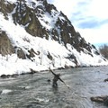 Fly fishing the Big Wood River in winter.- Best of Sun Valley for Fun-Loving Families