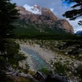 The trailhead for Mount Fitz Roy.- Laguna des los Tres