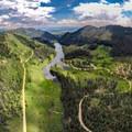 Aerial view of nearby Hahns Peak Lake.- OP Adventure Review: December 18-24
