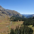 View of the basin on the final hike up to Ice Lake.- 10 Reasons to Visit the San Juan Mountains