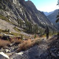 Descent to Bubbs Creek along the Rae Lakes Loop.- High Altitude Hikes to Rise Above the Heat