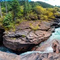 Panoramic view of the waterfall, South Fork Mineral Creek.- Incredible Family Adventures for Fall Color