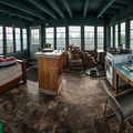 The light-filled interior of Fivemile Butte Lookout Tower.- 12 Reasons to Visit Mount Hood in the Winter