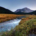 Moonrise above the creek, South Fork Mineral Creek.- Incredible Family Adventures for Fall Color