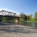 Swimming hole and beach along the Sandy River at Lewis and Clark State Recreation Site.- 31 Best Beaches + Swimming Holes in-and-around Portland, Oregon