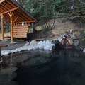 Upper Sacred Pool at Breitenbush Hot Springs. Some hot springs are well-developed, and it's no less important to observe LNT principles and respect the space of others.- The Naked Truth About Hot Springs