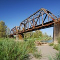 Railroad crossing over the Sandy River at Lewis and Clark State Recreation Site.- 31 Best Beaches + Swimming Holes in-and-around Portland, Oregon