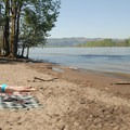 The beach along the Willamette River at Kelley Point Park.- 31 Best Beaches + Swimming Holes in-and-around Portland, Oregon