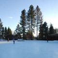 Seventh Mountain Resort's ice skating rink.- Best Winter Adventure Destinations