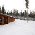 Ten Mile Sno-Park warming hut.- An Oregon Winter Road Trip