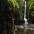 Oneonta Gorge: Lower Oneonta Falls.- Hiking in the Columbia River Gorge