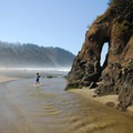 "The ""arch"" at Proposal Rock.- Dog Etiquette on the Oregon Coast"