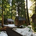 Rental cabins at the Breitenbush Retreat and Conference Center.- Portland's Nearest Hot Springs