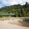View of the Sandy River and Historic Columbia River Highway Bridge from Glenn Otto Community Park.- 31 Best Beaches + Swimming Holes in-and-around Portland, Oregon