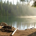 Backcountry campsite along the Timothy Lake Loop Trail on the way to Meditation Point.- Oregon's Best Backpacking Trips