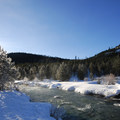 Southeast view of Tumalo Creek.- An Oregon Winter Road Trip