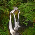 Triple Falls along the Oneonta Creek.- Oregon's Official Outdoor Recreation Day is Here