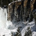Tumalo Falls thundering through ice flows.- 52 Week Adventure Challenge: Frozen Water