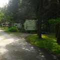 Ainsworth State Park Campground: Typical campsites, all equiped for full RV hook-up (electric, sewer and water).- Columbia River Gorge National Scenic Area