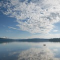 View of Timothy Lake and Mount Hood from the day use area at Hoodview Campground.- A Guide to Camping in Oregon