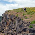 Hikers at Coyote Wall in the Columbia River Gorge.- Oil trains are risking it all in the Columbia River Gorge