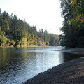 View of the Clackamas River looking east from Carver Park.- 31 Best Beaches + Swimming Holes in-and-around Portland, Oregon