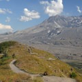 View of Mount St. Helens (8,366 ft) from Hummocks Loop.- Exploring Mount St. Helens