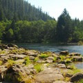 Clackamas River just above the Big Eddy Rapids.- 31 Best Beaches + Swimming Holes in-and-around Portland, Oregon