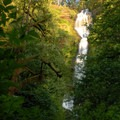 Munson Creek Falls, a 319-foot cascade.- Exploring Oregon's Coastal Waterfalls