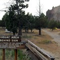 Walk-in campsite area at Smith Rock State Park.- Best Year-Round Camping in Oregon