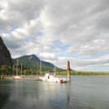 View of Beacon Rock and marina.- Gorge Towns to Trails: Connecting the Entire Columbia River Gorge