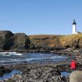 Yaquina Head Lighthouse at Yaquina Head Natural Area.- Oregon's 16 Best Beaches