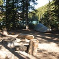 Typical campsite at Devil's Lake Campground.- A Guide to Camping in Oregon