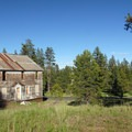 View of the old boarding house at Blue Ridge Mine.- Ghost Towns of the West