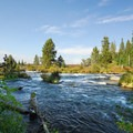 Deschutes River, Upper Reach Hike: Deschutes River, just below Benham Falls.- Oregon's 75 Best Day Hikes