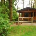 Cabin at Fort Stevens State Park Campground.- A Guide to Camping on the Northern Oregon Coast