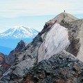 View of Mount Adams (12,281 ft) from the Mount St. Helens summit.- Exploring Mount St. Helens