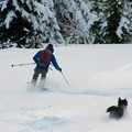 Earned turns down Tom Dick and Harry Mountain.- 12 Reasons to Visit Mount Hood in the Winter