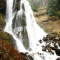 The upper tier of Falls Creek Falls.- Washington's Best Winter Waterfalls