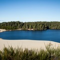 Cleawox Lake from the top of a nearby dune in Honeyman State Park.- Must-See Oregon Coast State Parks