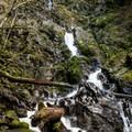 Rodney Falls near Hamilton Mountain.- Washington's Best Winter Waterfalls